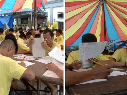 Never too late! Inmates take DepEd exam to enrol in HS, college