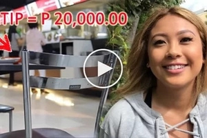 Waitress buried in debt receives P20,000 as tip from generous couple plus P500,000 day after to pay her debts