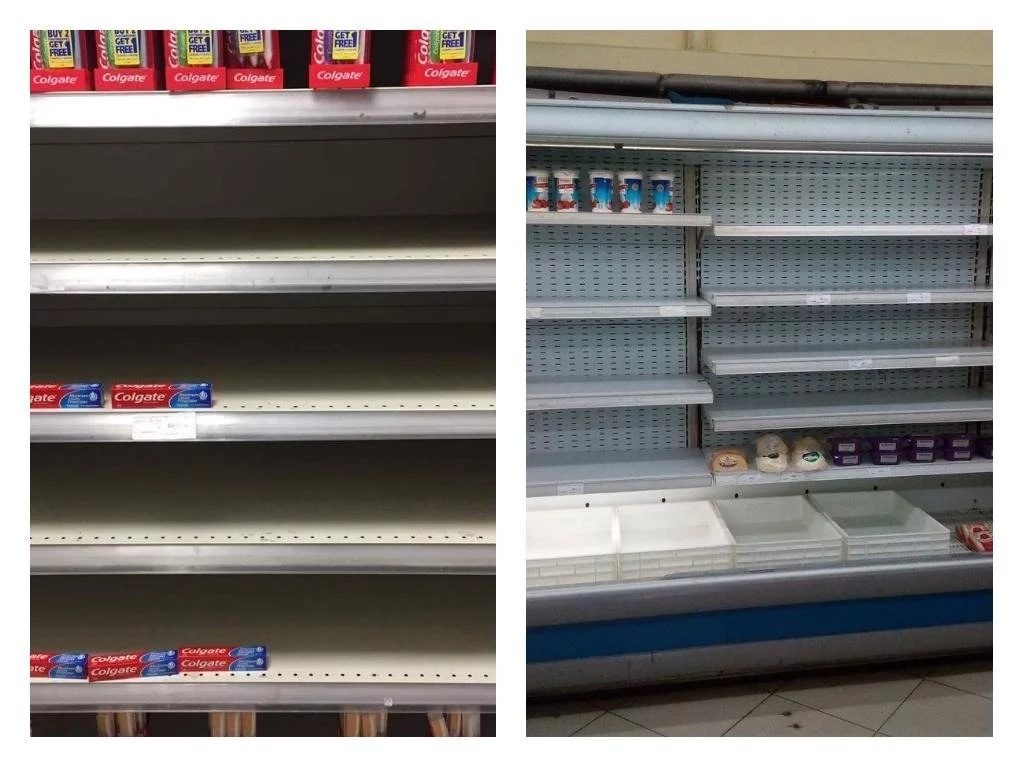 Rare images of totally EMPTY shelves at various Nakumatt branches have got Kenyans concerned (photos)