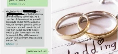 Ouch! Lady SAVAGELY shuts off classmate who asked for KSh 35,000 wedding contribution (photos)