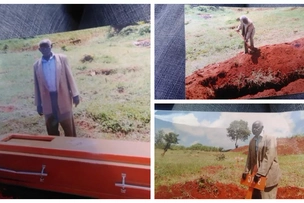 Murang'a man, 93, puzzled his neighbors when he single-handedly buried his wife without involving relatives