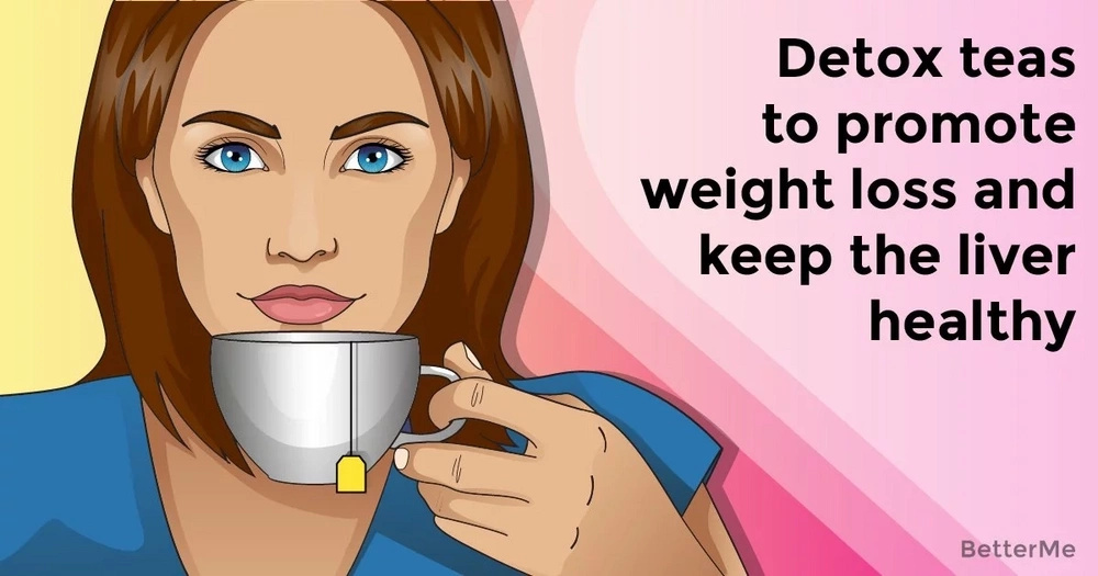 Detox teas to promote weight loss and keep the liver healthy