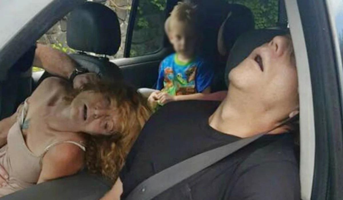¡Insólito! Conducían drogados y llevaban un niño en el auto