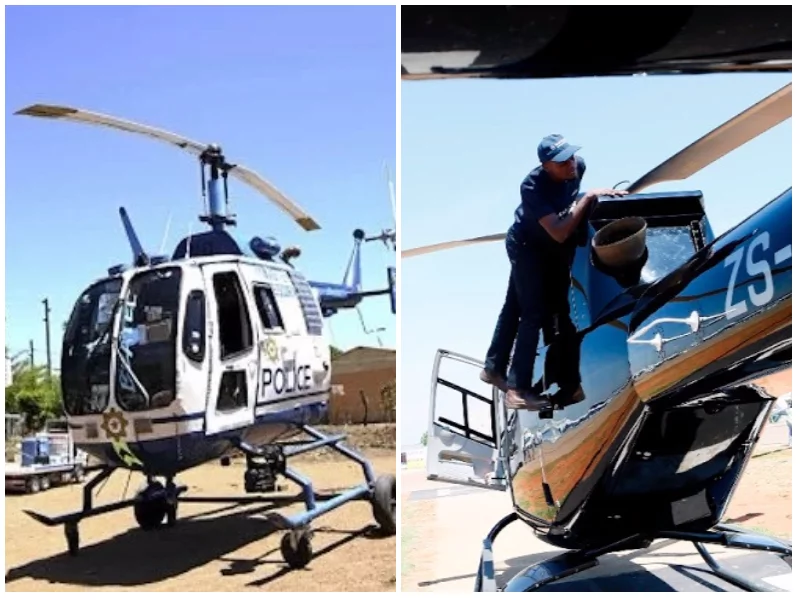 Man gets to fly a real helicopter after building a replica