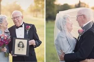 Esta pareja esperó 70 AÑOS para tomar las fotos de su boda