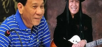 Find out why Duterte admires Freddie Aguilar