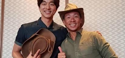Swerte niya! Kuya Kim meets this Korean actor in person