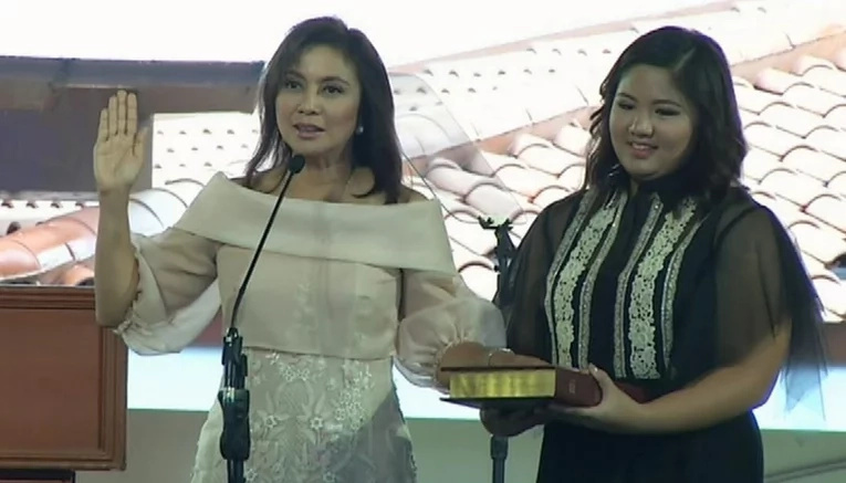 Village chief administers VP Robredo's oath-taking