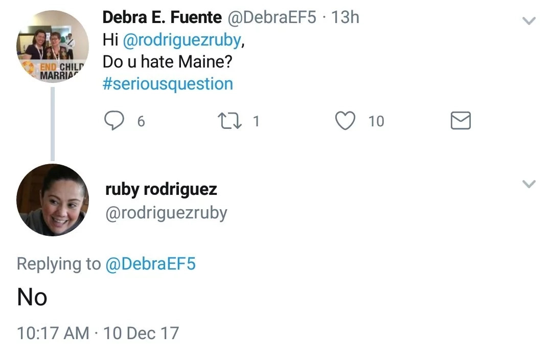 Ruby Rodriguez responds to netizen who asked her if she hates Maine Mendoza for releasing controversial open letter