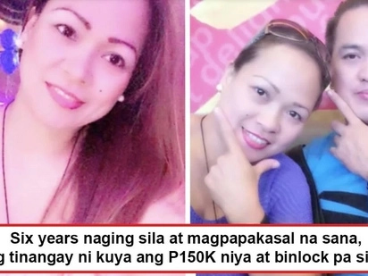 Iniwan na, ninakawan pa! Girlfriend despairs after scheming boyfriend runs away with her hard-earned PHP150,000, then blocks her on FB