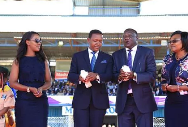 Machakos Governor Alfred Mutua's gorgeous wife steals the show during his swearing in ceremony