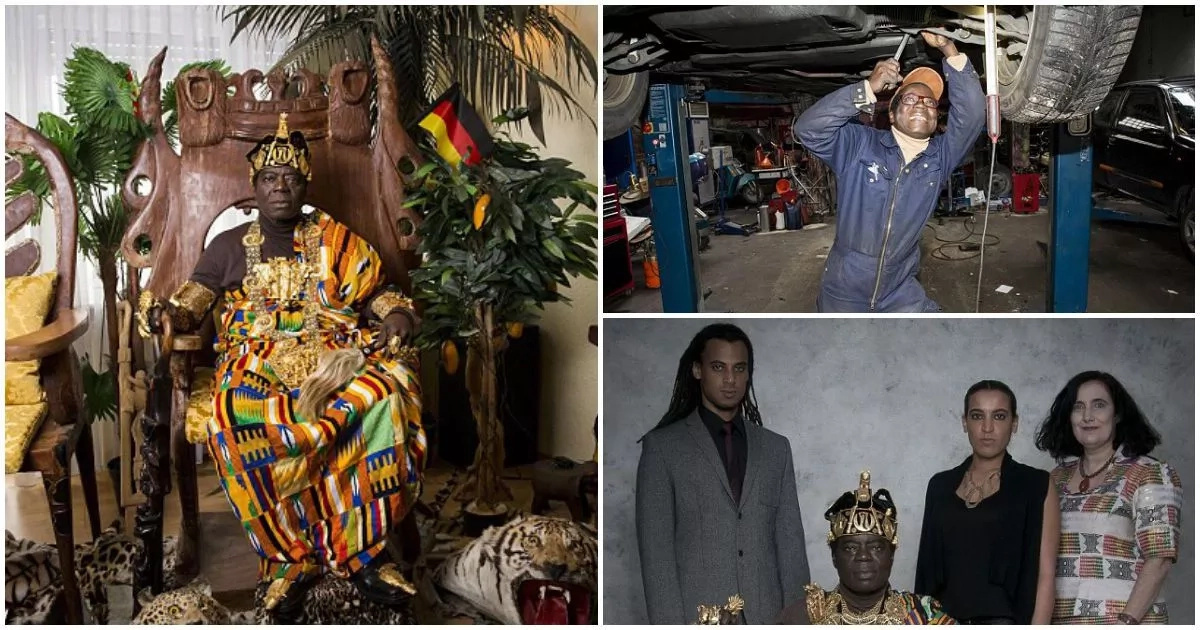 Meet popular African King who is a mechanic in Europe, rules via Skype (photos,video)