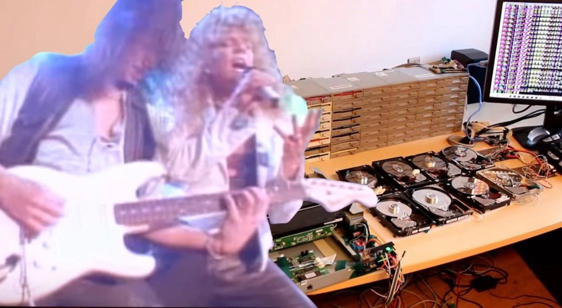 "Listening to ""The Final Countdown"" played by 64 floppy disks will be the best part of your day"