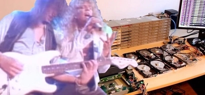 64 floppy disks playing the Final Countdown will be the best part of your day