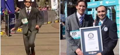 25-year-old man runs marathon in three-piece suit, sets Guinness World Record for fastest time