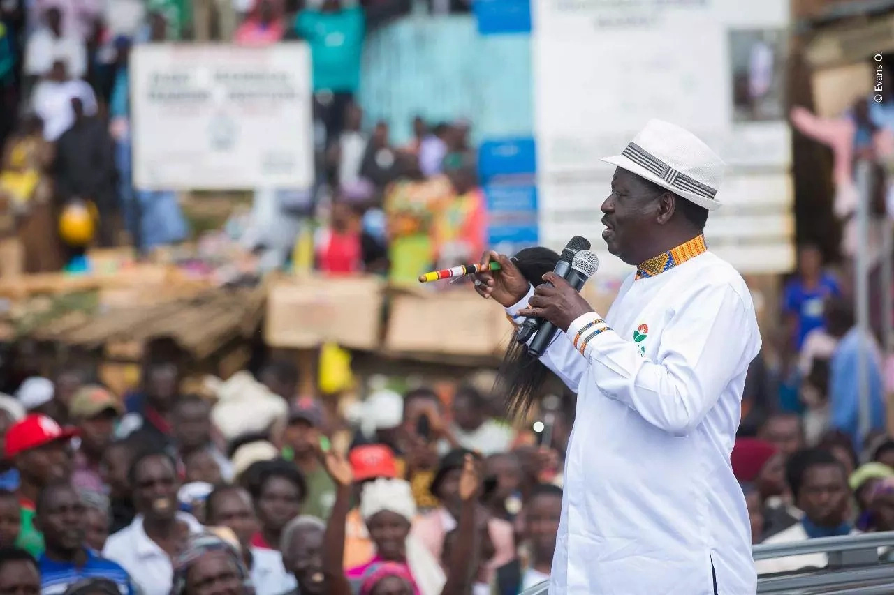 Stop looting and destroying private property, Raila begs NASA supporters