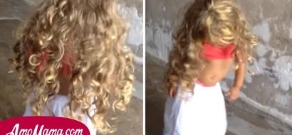 Esta niña de tan solo dos años hace todo lo posible por parecerse a Shakira y por eso empezó con los movimientos