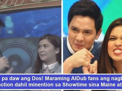 Buti pa daw ang Dos? AlDub nation reacts to Showtime hosts for mentioning Alden-Maine loveteam in Kapamilya show