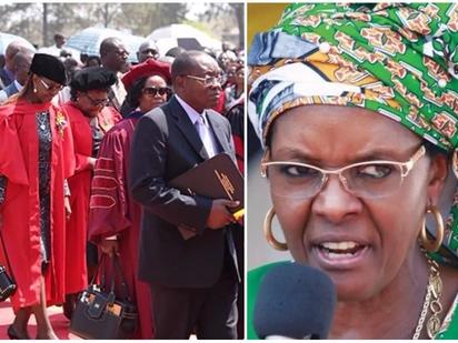 Revoke Grace Mugabe's doctorate or we won't sit our exams - University of Zimbabwe students demand