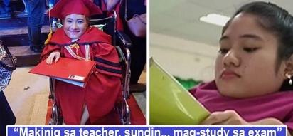 Tiyaga't determinasyon naging puhunan! Girl with bone disease makes waves online as she graduates 'magna cumlaude' despite debilitating condition