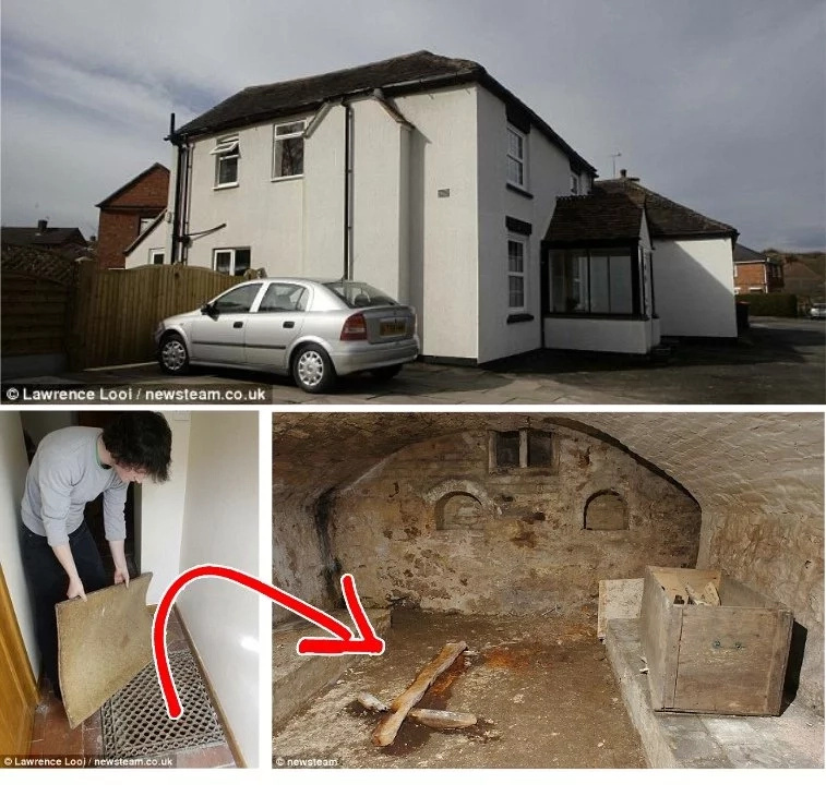 Family discover a cellar after living in the house for 3 years