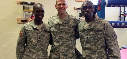 Kenyan soldier in US Army preaches to colleagues in LUO; their reaction is amazing