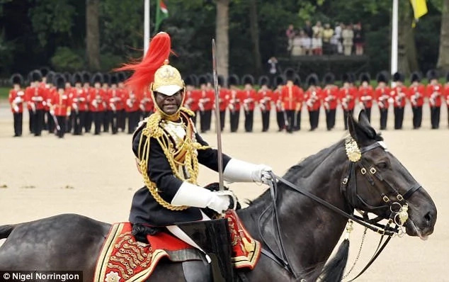 Twumasi-Ankrah pictured during Trooping The Colour on Horse Guards in 2010. Photo: Nigel Norrington