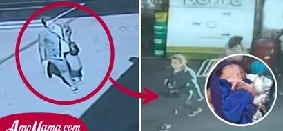 Una mujer policía usó a su hija como cómplice para abandonar a su bebé en un baño público