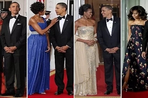 Revealed! Obama wore the same tuxedo for 8 YEARS and nobody noticed - Michelle says (photos)