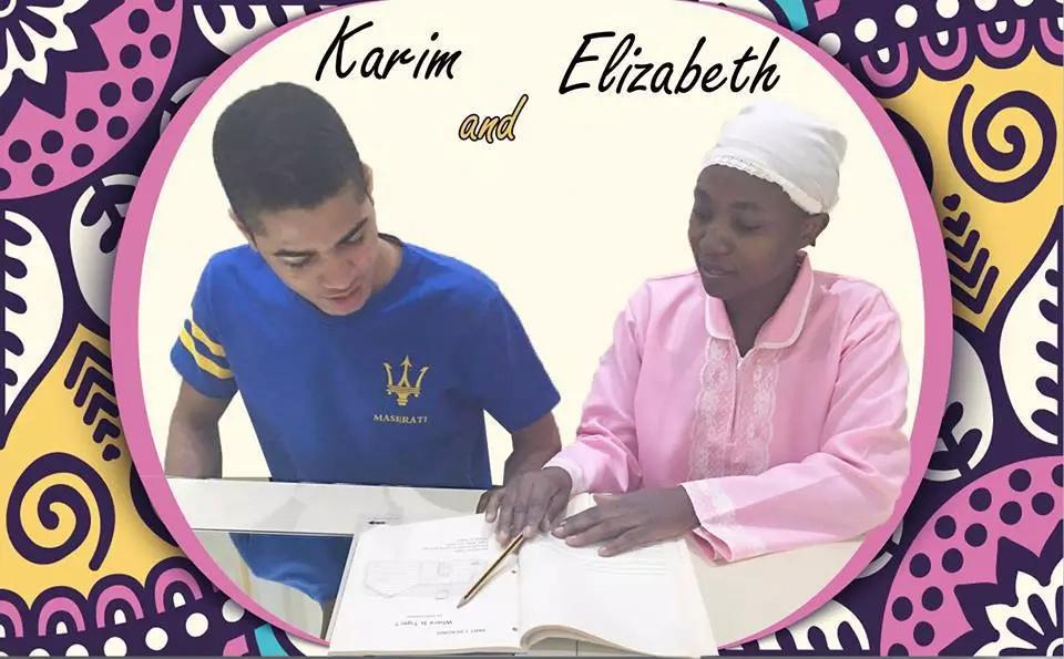 Arab woman appreciates her Kenyan nanny in a newspaper advert