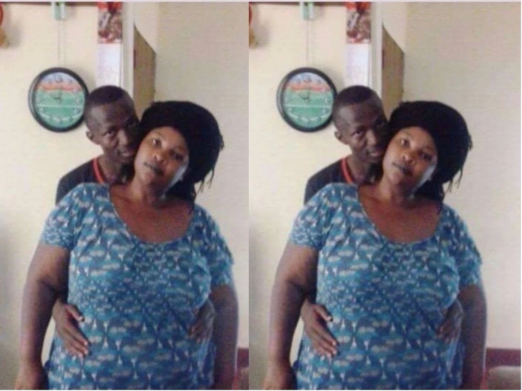 Kenyan guy shows off his woman who is two times bigger than him and you wil love it