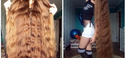 Meet woman who wants to grow her 1.5 meters long hair to toes in order to win a bet she took 14 years ago