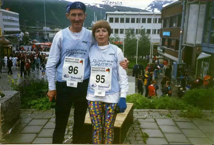 80-year-old Irish couple run a marathon for 57th anniversary