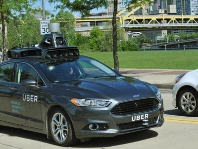 Self-driving Uber Taxis are appearing on the streets of Pittsburgh