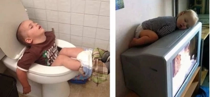 PHOTOS: Cutest toddlers SLEEPING in the WEIRDEST positions