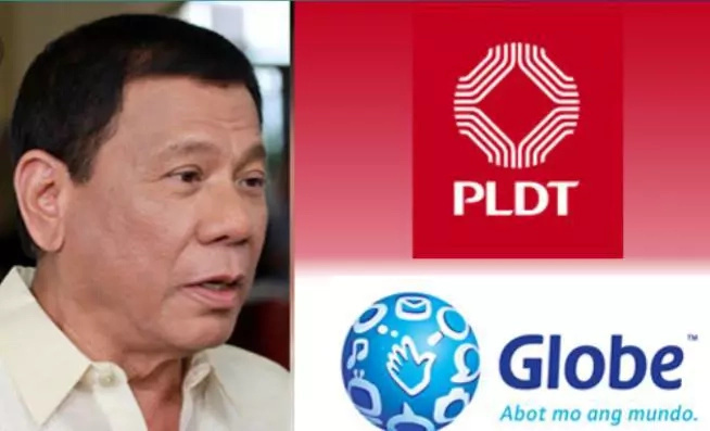 Duterte gives chance to PLDT, Globe to improve services after SMC deal