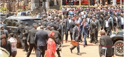 Mike Sonko brings Mashujaa Day celebrations to a standstill as he flaunts his heavy security (Photos)