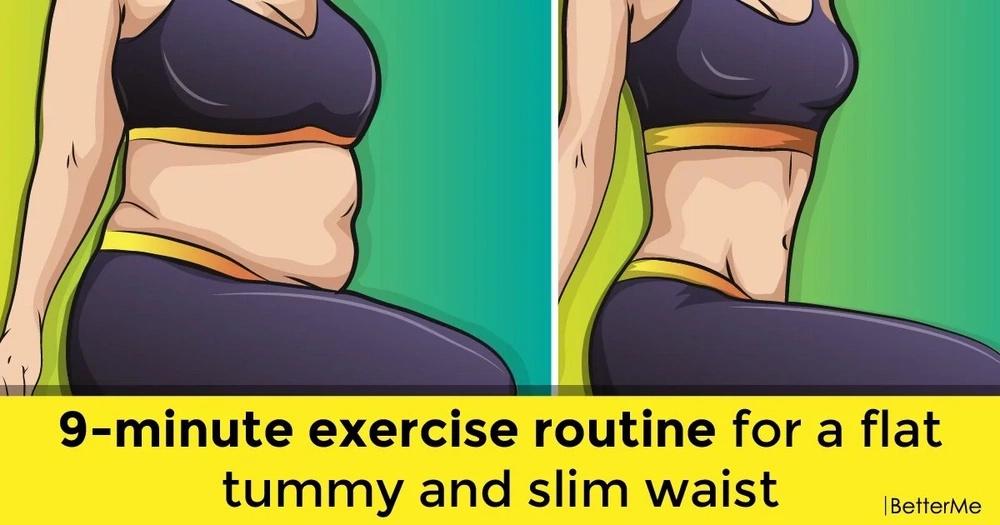 9-minute workout routine for a flat tummy and slim waist