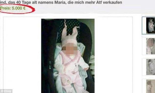 Ofrecen en venta a recién nacida por $5.300 en Alemania