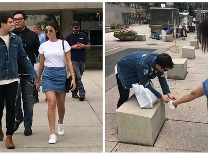 For real na sana! Photos of Liza Soberano and Enrique Gil spotted holding hands and sweet to each other in Canada circulate social media