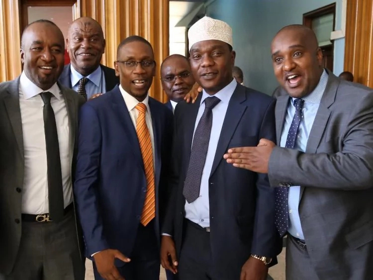 Opposition leader Raila Odinga meets fierce critic Aden Duale
