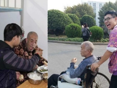 The way this man takes care of his disabled father will melt your heart!