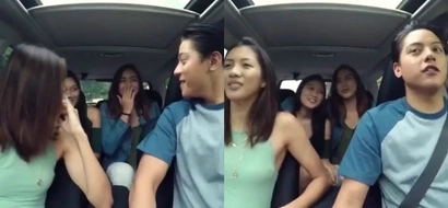 Gwapings ang driver! Daniel Padilla takes De La Salle Lady Spikers on a road trip