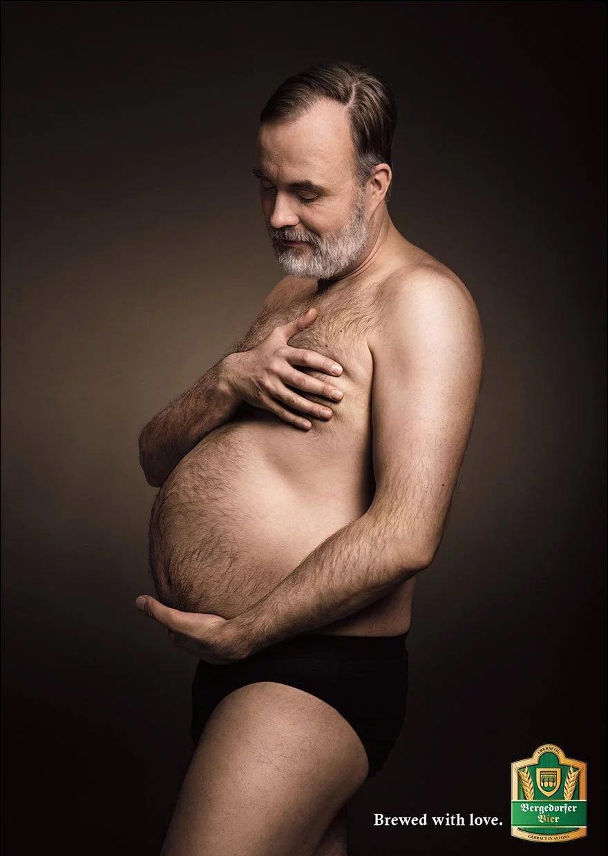 Te sorprende ver un hombre embarazado ¡A esta marca de cerveza no!
