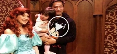 Scarlet Snow gets mesmerized with Disney princess while taking picture together with Hayden Kho