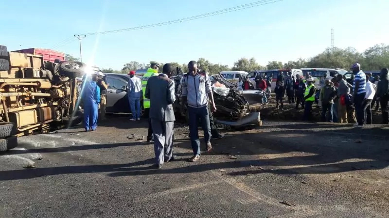 Photos of the serious accident at Gilgil weighbridge that has left several dead
