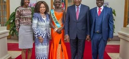 Miss World Africa- 2017 Magline Jeruto amtembelea Uhuru Ikulu, Nairobi