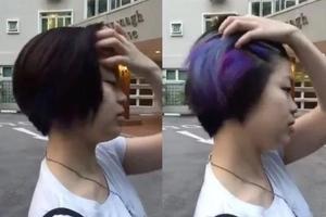 El internet está obsesionado con el mágico cambio de color del cabello de una mujer