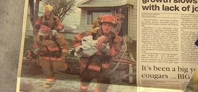 Este bombero salvó su vida hace 17 años. Él nunca esperó que ella haga esto