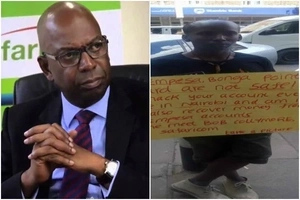 Young man THREATENS to HACK Safaricom if not given a job (Photo)